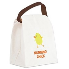 Running Chick Orange.png Canvas Lunch Bag