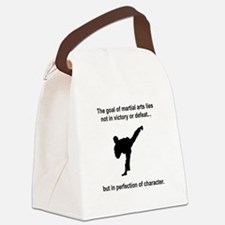 Martial Arts Character Black.png Canvas Lunch Bag