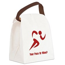 Your Pace Red.png Canvas Lunch Bag