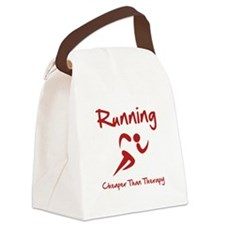 Running Therapy Red.png Canvas Lunch Bag