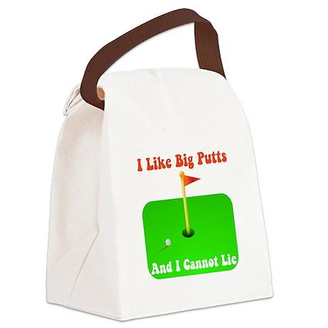 Big Putts Orange.png Canvas Lunch Bag
