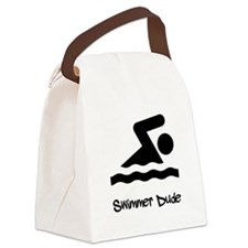 Swimmer Dude Black.png Canvas Lunch Bag