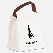 Hoops Dude Black.png Canvas Lunch Bag