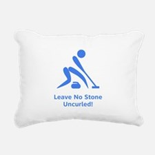 Uncurled Blue.png Rectangular Canvas Pillow