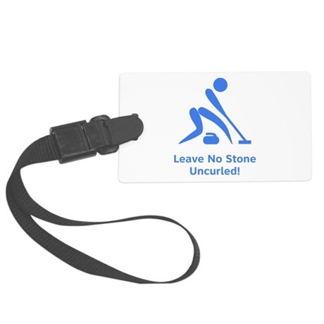 Uncurled Blue.png Large Luggage Tag