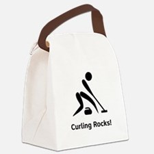 Curling Rocks Black.png Canvas Lunch Bag