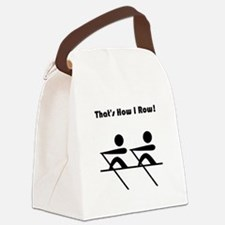 How I Row Black.png Canvas Lunch Bag