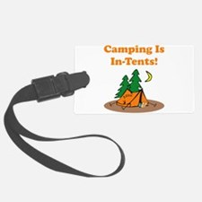 Camping InTents Orange.png Luggage Tag