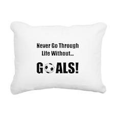 Soccer Goals Black.png Rectangular Canvas Pillow