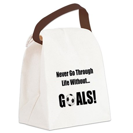 Soccer Goals Black.png Canvas Lunch Bag