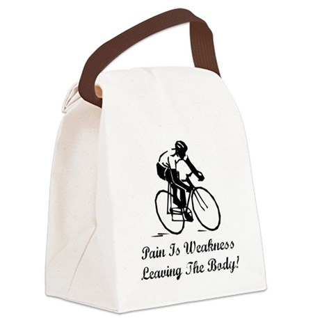 Pain Is Weakness Black.png Canvas Lunch Bag