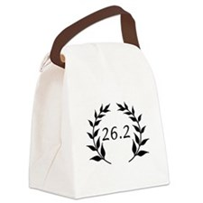 Marathon Leaves Black.png Canvas Lunch Bag