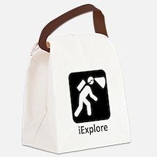 iExplore Black.png Canvas Lunch Bag