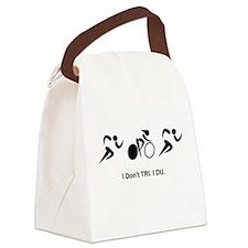 Dont TRI DU Black.png Canvas Lunch Bag