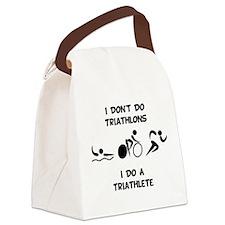 Do Triathlete Black.png Canvas Lunch Bag