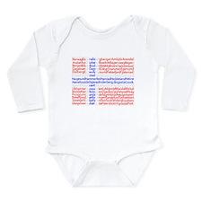 Norwegian Cities Flag Long Sleeve Infant Bodysuit