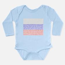 Russian Cities Flag Long Sleeve Infant Bodysuit