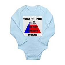 Texan Food Pyramid Long Sleeve Infant Bodysuit