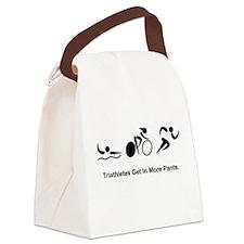 Triathlete Pants Black.png Canvas Lunch Bag
