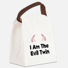 Evil Twin Black.png Canvas Lunch Bag
