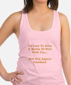 Battle Of Wits Gold.png Racerback Tank Top