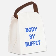 Body By Buffet Blue.png Canvas Lunch Bag