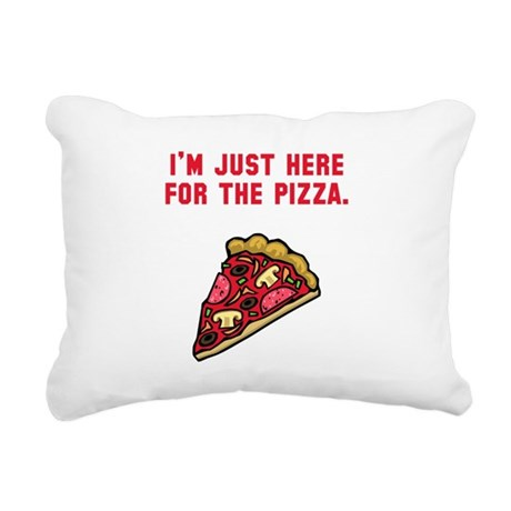 Here For The Pizza Red.png Rectangular Canvas Pill