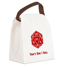 20 Sided Roll Red.png Canvas Lunch Bag