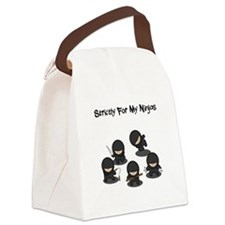 Strictly Ninjas Black.png Canvas Lunch Bag