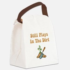 Plays In Dirt Brown.png Canvas Lunch Bag