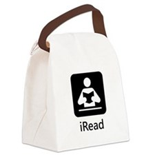 iRead Black.png Canvas Lunch Bag