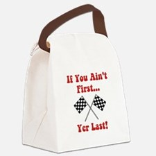 Aint First Last Red.png Canvas Lunch Bag