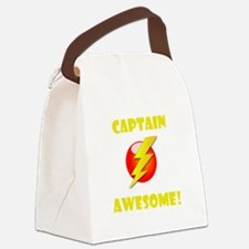 Captain Awesome Yellow.png Canvas Lunch Bag