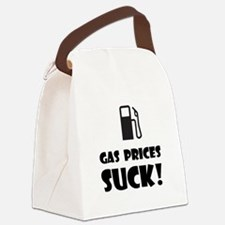 Gas Prices Black.png Canvas Lunch Bag