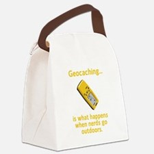 Geocaching Nerds Yellow.png Canvas Lunch Bag