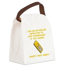 GeoCache Tupperware Yellow.png Canvas Lunch Bag
