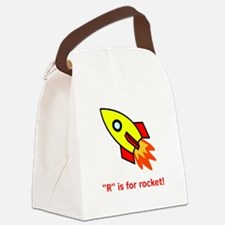 R is for rocket red.png Canvas Lunch Bag
