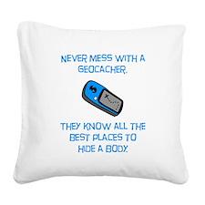 Geocacher Body Blue.png Square Canvas Pillow