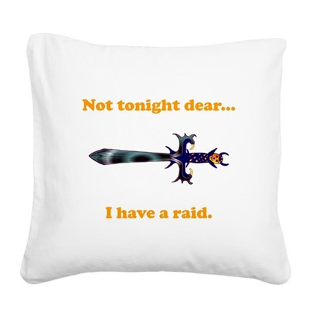 Tonight Raid orange.png Square Canvas Pillow
