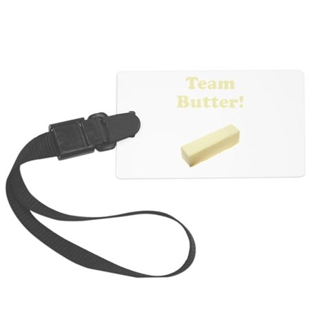 Team Butter Yellow.png Large Luggage Tag