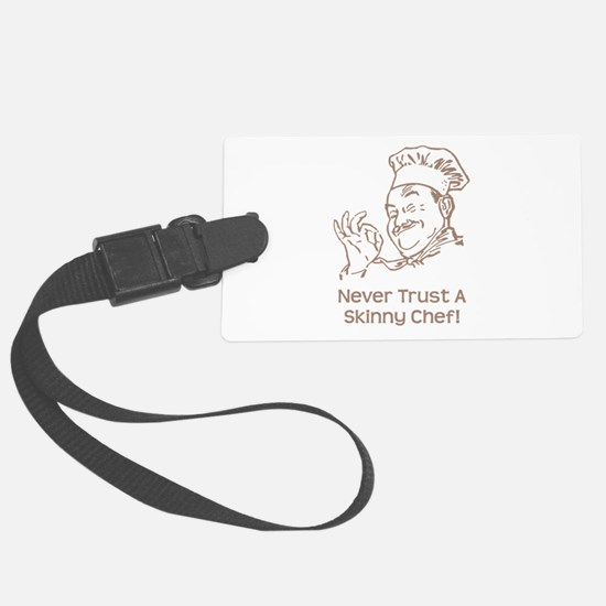 Skinny Chef Brown.png Luggage Tag