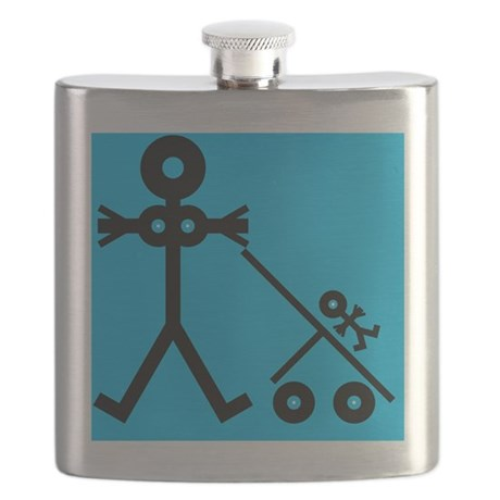 Mother and baby, conceptual artwork - Flask