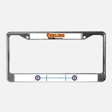 """""""Curling"""" License Plate Frame"""