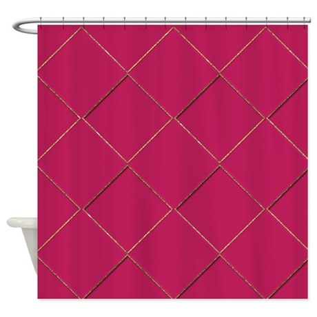 Pink And Gold Diamonds Shower Curtain By Cheriverymery