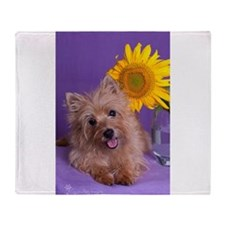 Sunflower Girl Throw Blanket