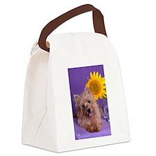 Sunflower Girl Canvas Lunch Bag