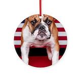 American bulldog dog Ornaments