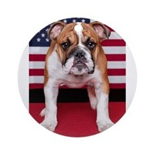 All American Bulldog Ornament (Round)