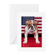 All American Bulldog Greeting Card