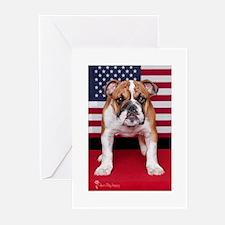 All American Bulldog Greeting Cards (Pk of 10)